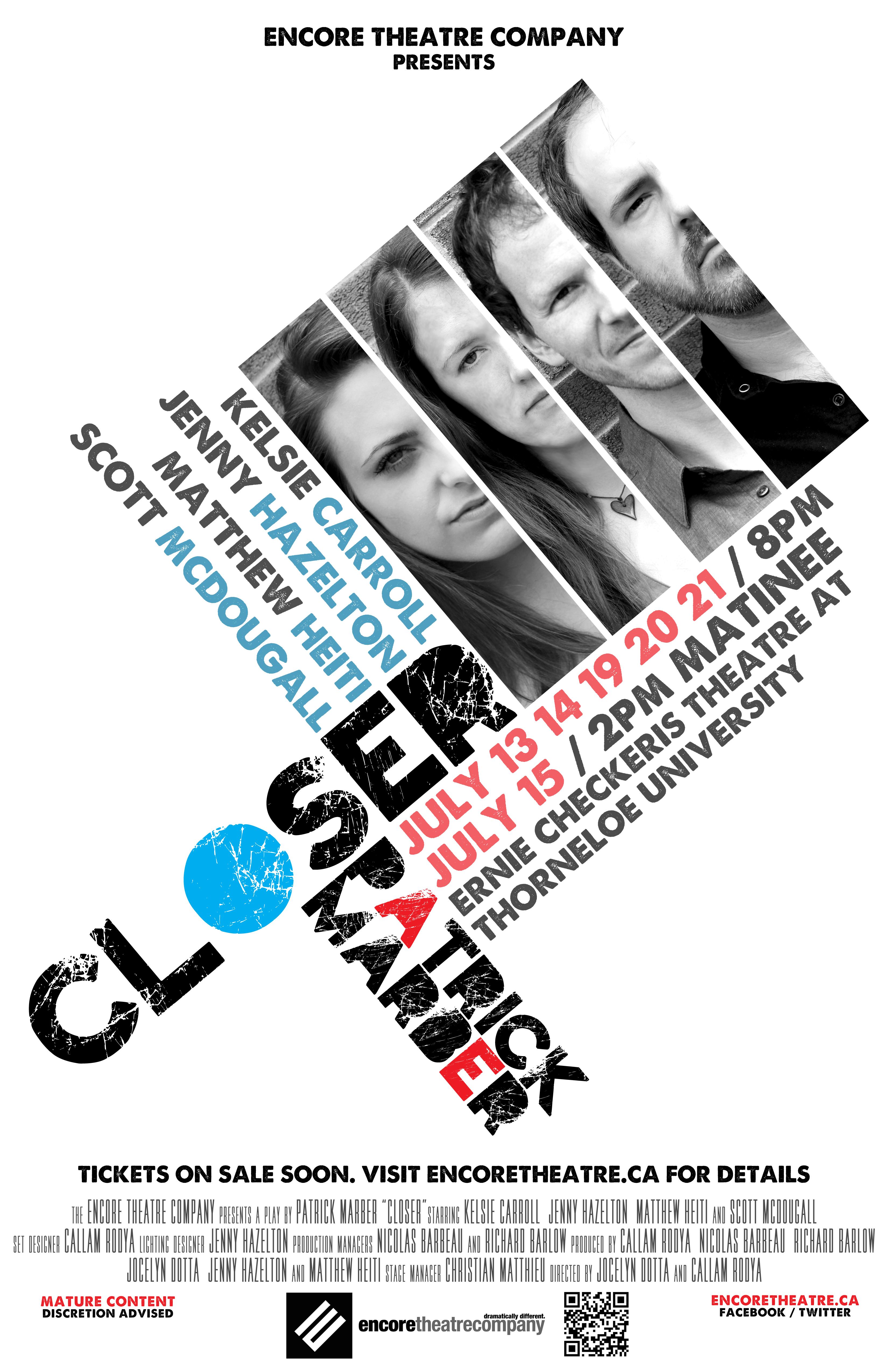 Poster design using photoshop cs5 - Client Encore Theatre Company